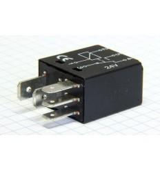 Relé 12V - MICRO 25/15A - čierne -5 kontakt