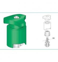 Svorka batériová s plastom - zelená