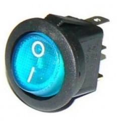 Vypínač kolískový okrúhly modrý