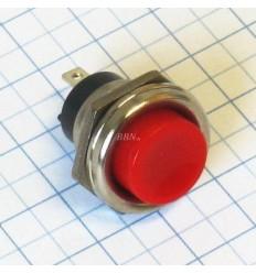 Vypínač tlačítkový-okrúhly-červený
