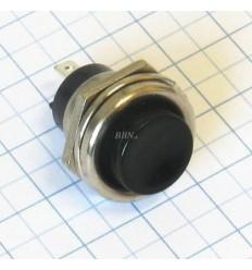 Vypínač tlačítkový - okrúhly - čierny