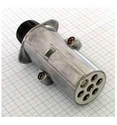 Dopl.zástrčka 24V 7 pólová kovová