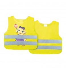 Reflexná vesta detská žltá potlač