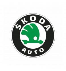 Samolepka Škoda 4ks disky staré logo zelené 55mm