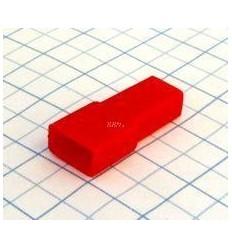 Návlek izolačný na dutinku 6,3mm - červený