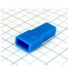 Návlek izolačný na dutinku 6,3mm - modrý