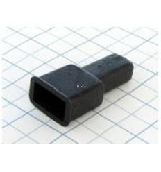 Návlek izolačný na kolík 6,3mm - čierny