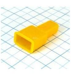 Návlek izolačný na kolík 6,3mm - žltý