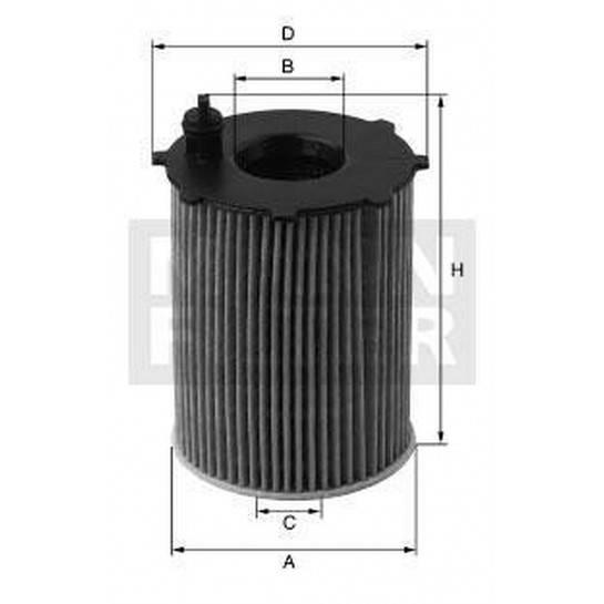 filter olejový mann HU 831x