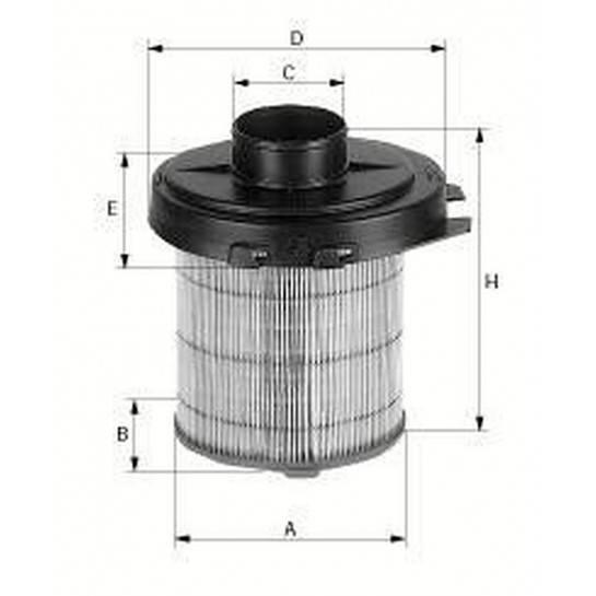 filter vzduchový mann C 1468