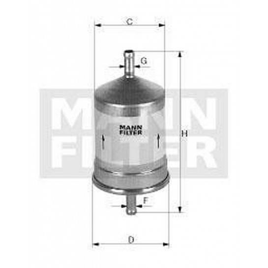 filter paliva mann WK 830/7