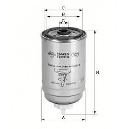 filter paliva mann WK 842/2