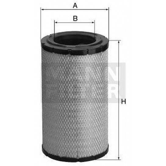 filter vzduchový mann C 19460/2 C 19460