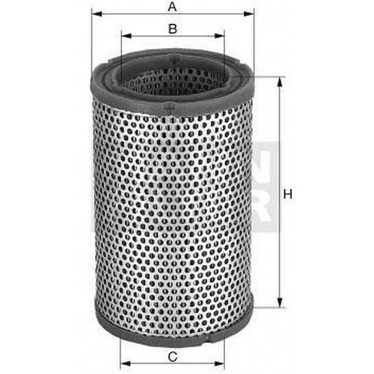 filter vzduchový mann C 1589/3