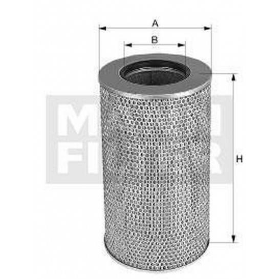 filter vzduchový mann C 341500/1 FH12 bez príruby