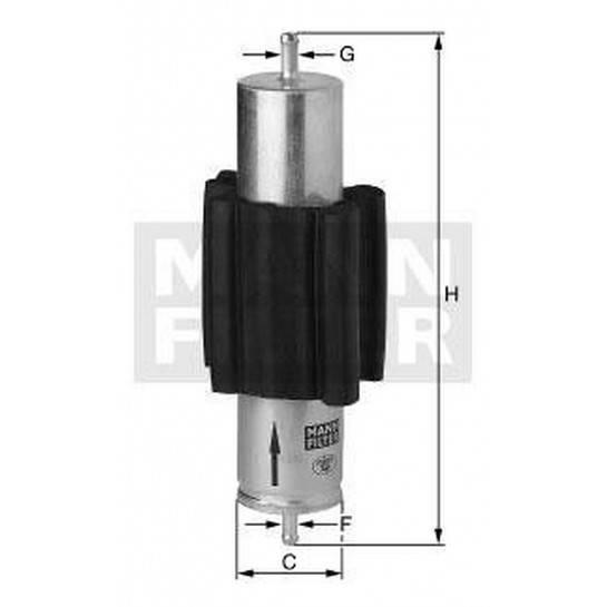filter paliva mann WK 516/1