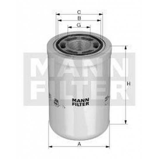 filter olejový mann WH 1257/1