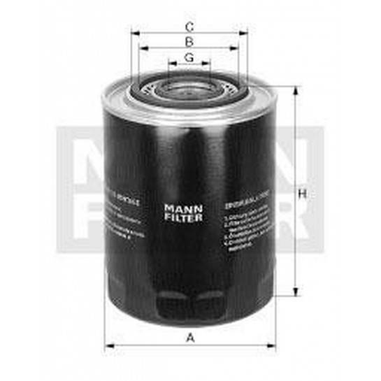 filter olejový mann WP 1144 IVECO