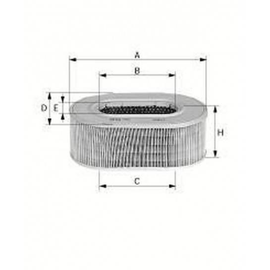 filter vzduchový mann C 25124