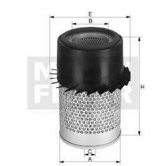 filter vzduchový mann C 22337
