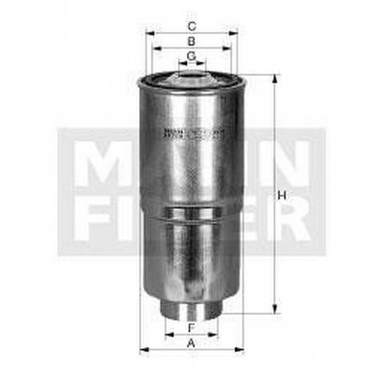 filter paliva mann WK 842/10
