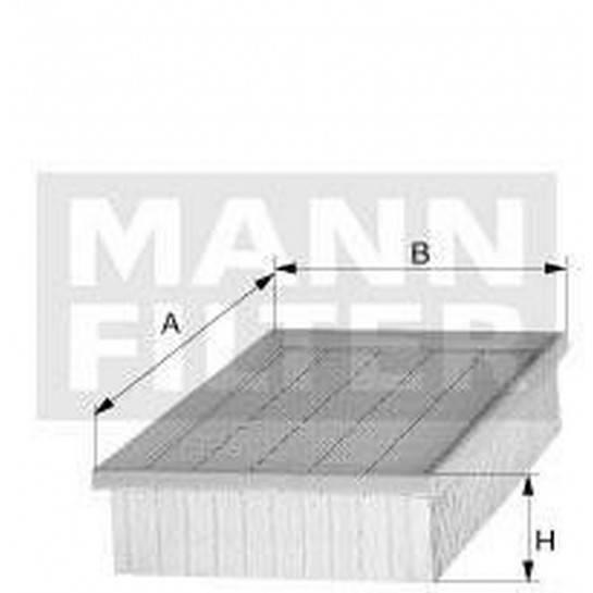 filter vzduchový mann C 2498