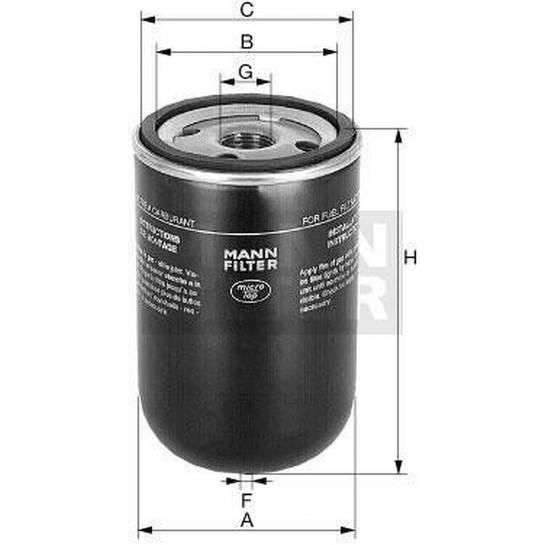 filter paliva mann WK 9165x