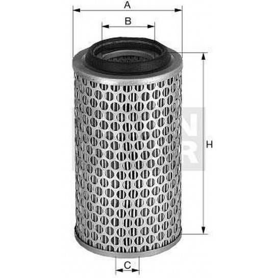 filter vzduchový mann C 24393