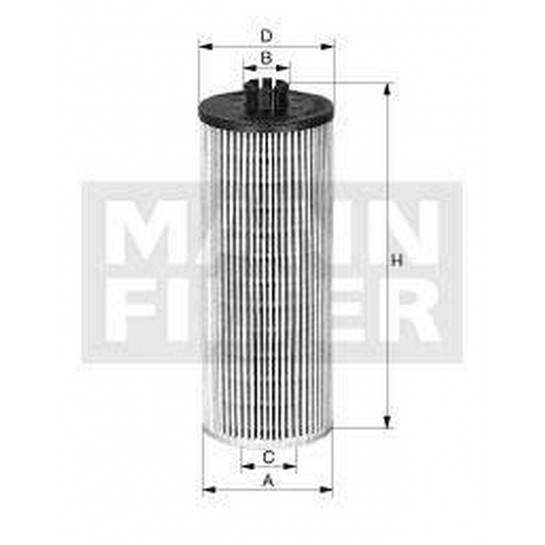filter olejový mann HU 612/2x