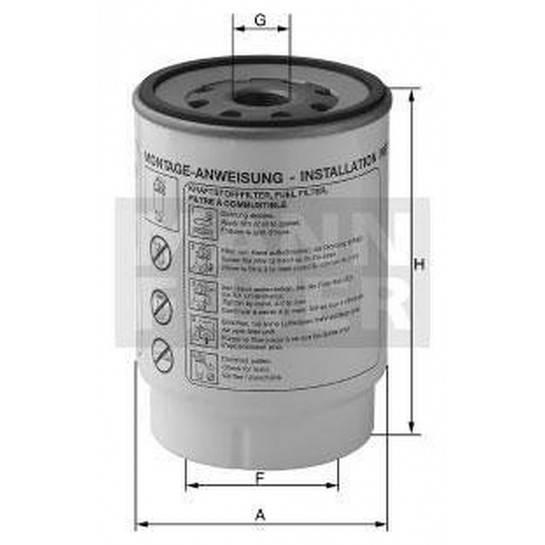 filter paliva mann WK 940/33x