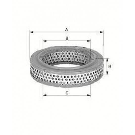 filter vzduchový mann C 3383