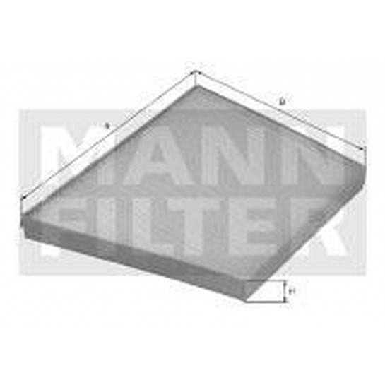 filter peľový mann CUK 3172