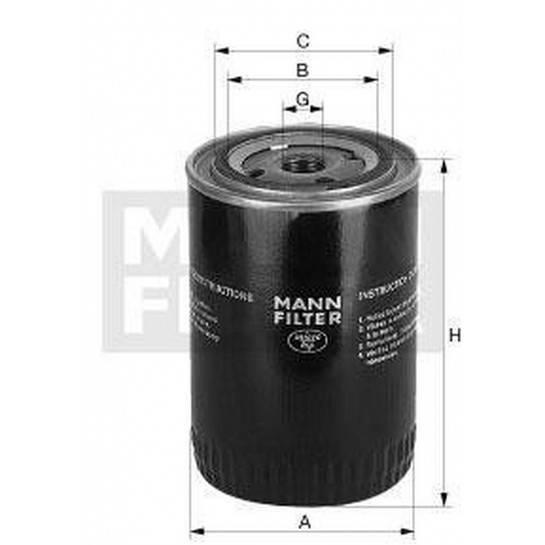 filter olejový mann W 712/47