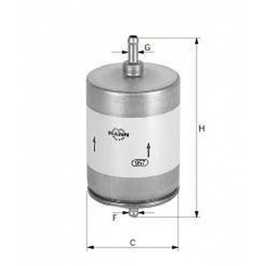filter paliva mann WK 830