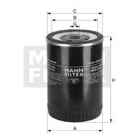 filter paliva mann WK 845/8