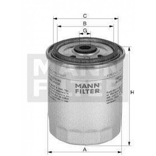 filter paliva mann WK 817/3x