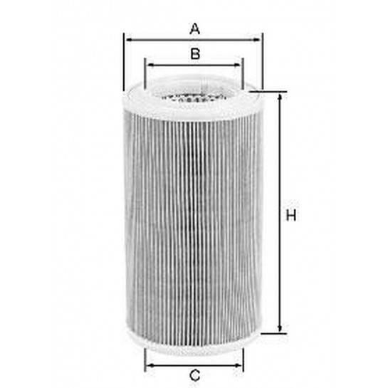 filter vzduchový mann C 1652