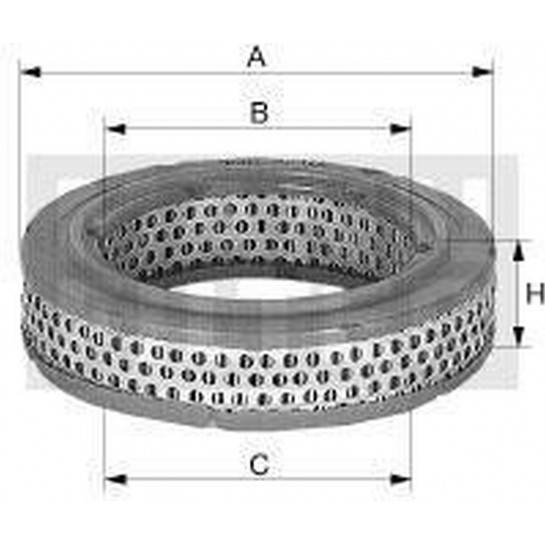 filter vzduchový mann C 2535/1 C 2535/2