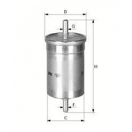 filter paliva mann WK 612
