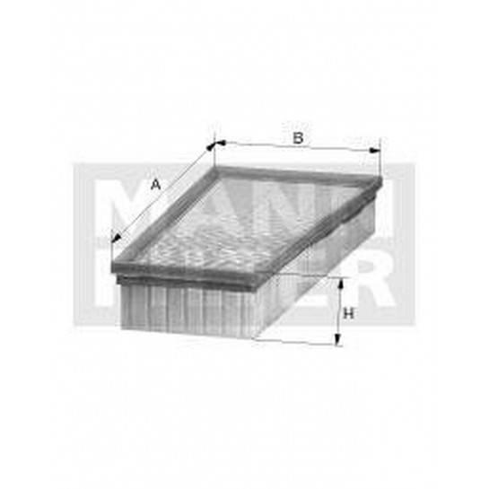filter vzduchový mann C 27124