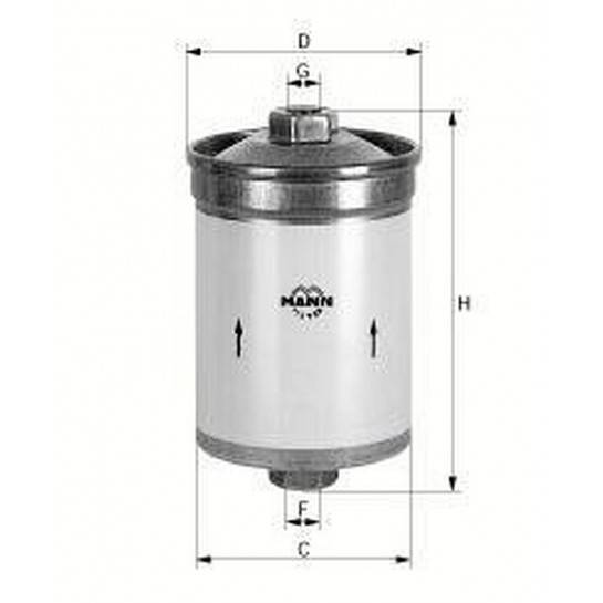 filter paliva mann WK 612/2