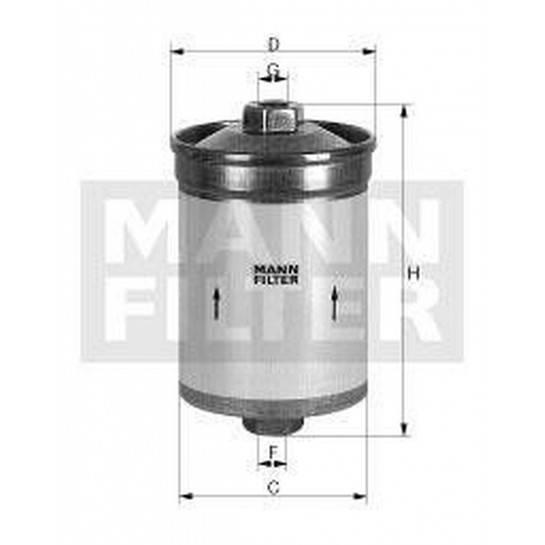 filter paliva mann WK 853