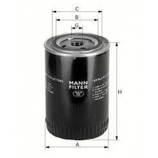 filter olejový mann W 814/80 W 818/80