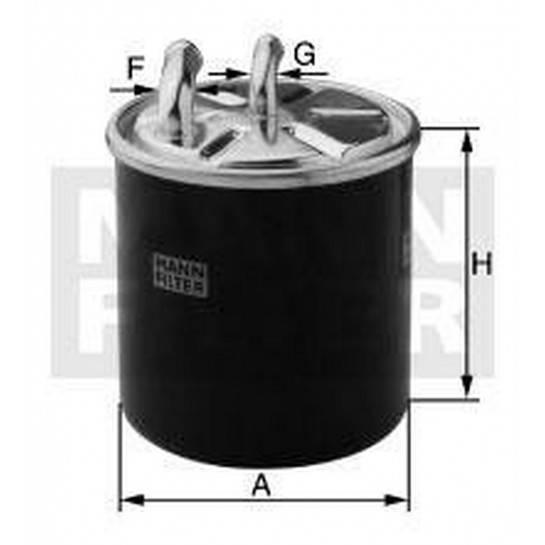 filter paliva mann WK 822/3