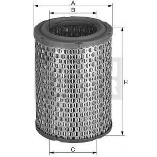 filter vzduchový mann C 291290