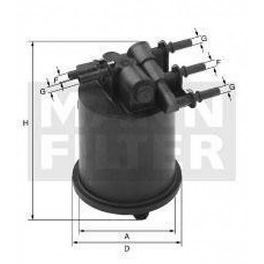 filter paliva mann WK 939/1