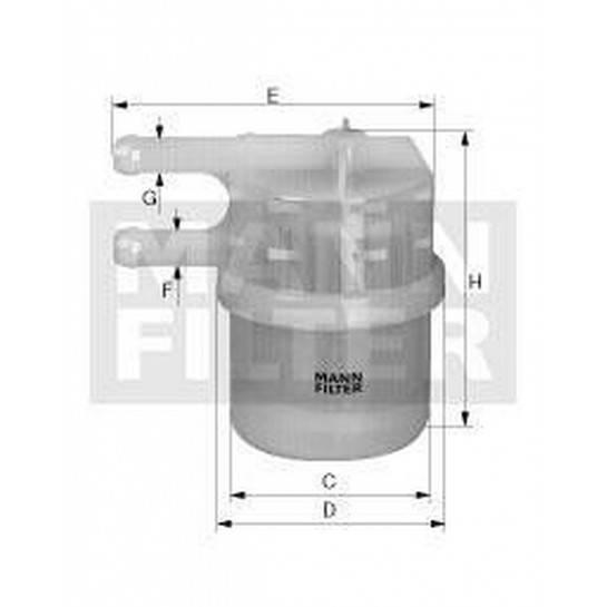 filter paliva mann WK 42/7