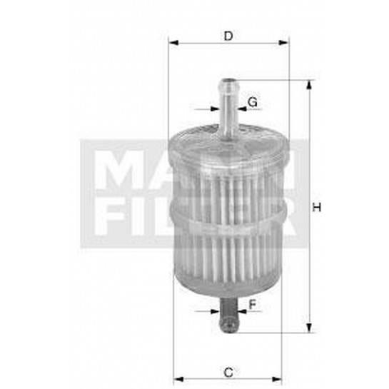 filter paliva mann WK 43/13