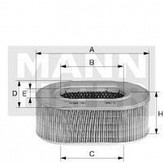 filter vzduchový mann C 2672/1 C 2686