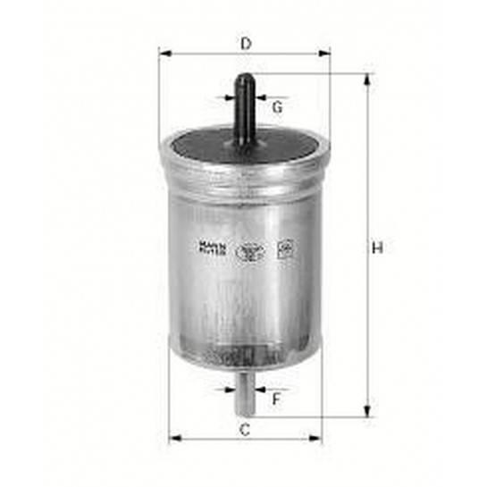 filter paliva mann WK 618/1